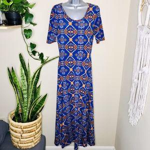 LuLaroe Ana Bright Patterned Dress print